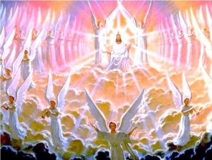JESUSONTHETHRONESURROUNDEDBYANGELS