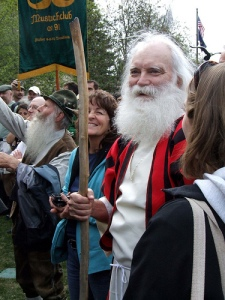 Reenactment of MOSES holding his STAFF