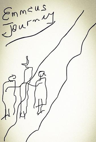 A child's Sunday School class drawing