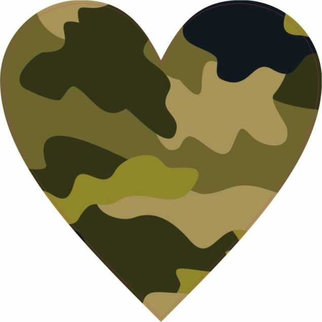 Camouflage Heart/Google Images