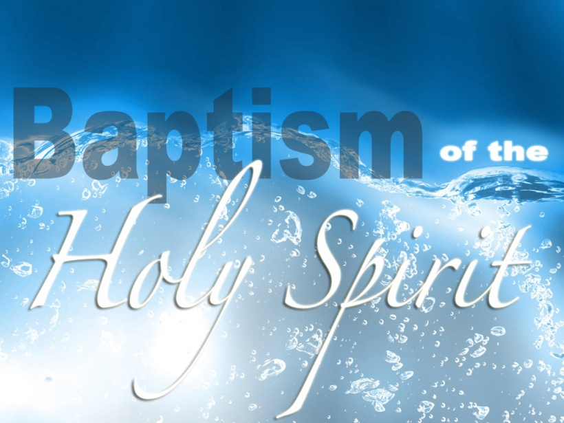 Baptism of the Holy Spirit Banner